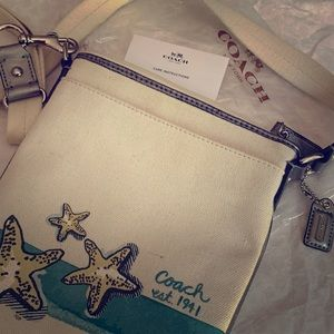 Genuine Coach Summer Starfish Beach Crossbody Bag